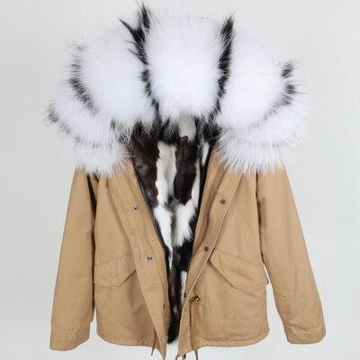 Réel Naturel Raccoon Court Manteau Col Raton Collar Fur D'hiver Parka Fourrure De raccoon Renard Mode Ruban Lâche Collar Doublure Oftbuy Veste Femmes Laveur En 2019 fox RqUPwxtE