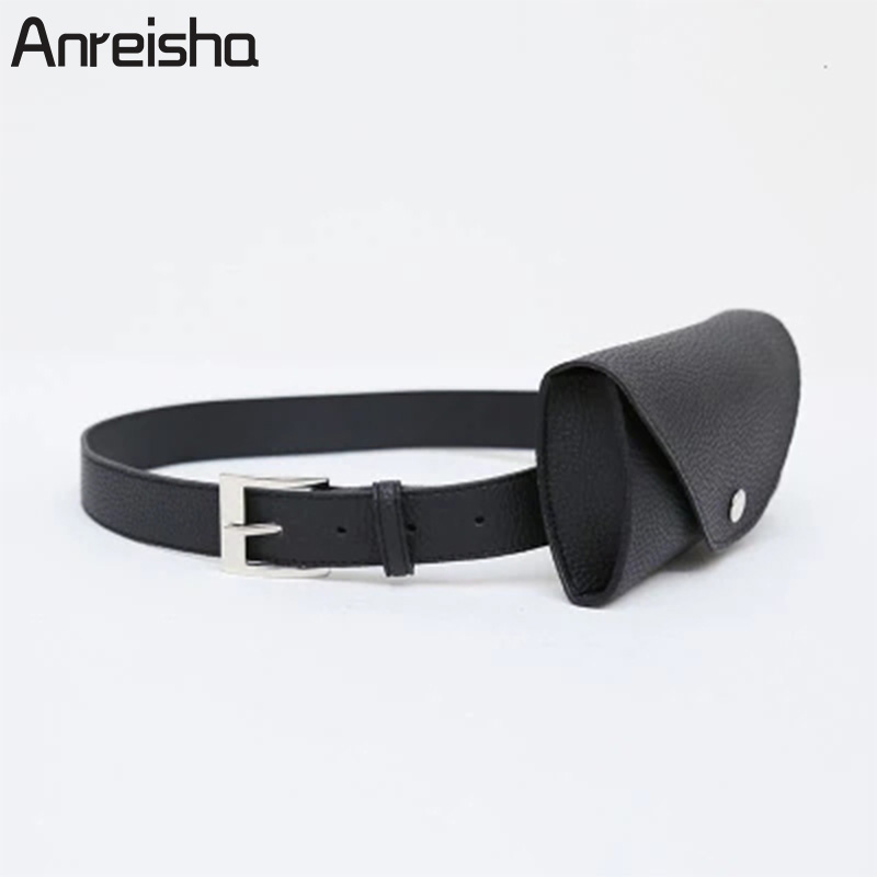 Anreisha Fashion Women Waist Bag Quality PU Leather Belt Bag Pack For Women Female Vintage Waist Pouch Fanny Pack Coin purse цена 2017