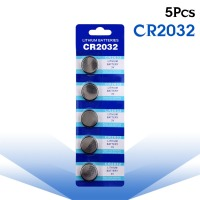 5pcs/pack CR2032 Button Batteries BR2032 DL2032 ECR2032 Cell Coin Lithium Battery 3V CR 2032 For Watch Electronic Toy Remote