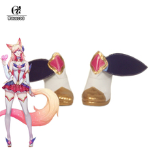 ROLECOS LOL Cosplay Shoes Guardian Magica Nine-Tailed Fox Ahri Cosplay Shoes Women Shoes Ahri Cosplay Shoes