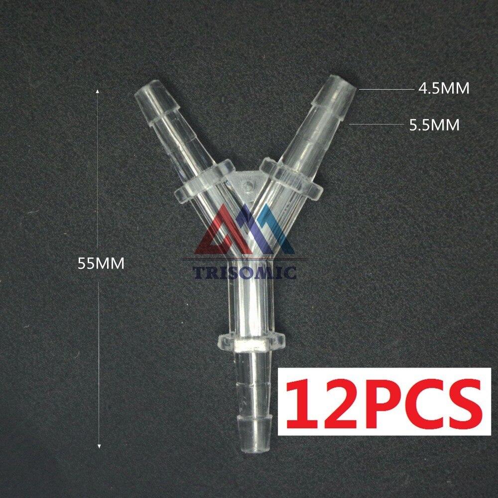 12 Stücke 4,5mm Y Tpye Equant Stecker Gleich Rohr Joiner Material Gpps Kunststoff Montage Aquarium Airline Aquarium Klar Und GroßArtig In Der Art Sanitär