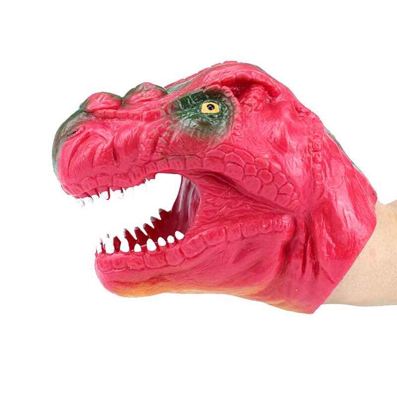 ソフトビニール TPR 恐竜ハンドパペット動物の頭部ハンド人形子供のおもちゃのギフトのおもちゃ子供のおもちゃ