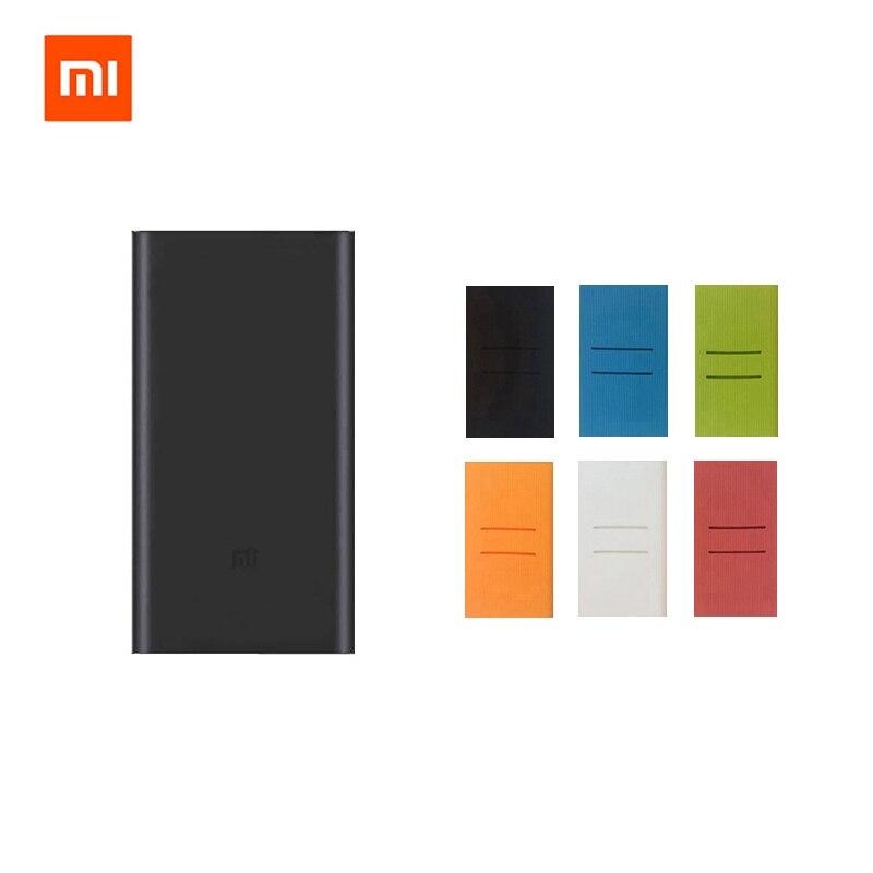 Original Xiaomi Mi 10000 mAh Power 2 Quick Charge 10000 mAh Energienbank. External Battery Pack mit Farbe Fall