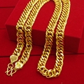 Curb Chain  Yellow Gold Filled Massive Mens Cool Necklace Gift 24 inches,10mm