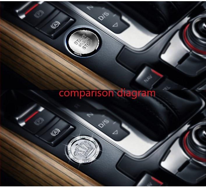 Auto ignition switch cover accessories auto ignition ring sticker for Nissan LANNNIA MURANO MAXIMA ALTIMA LEAF GR-R 370Z NV200