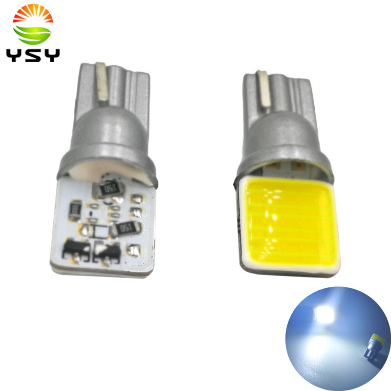 Newest <font><b>100X</b></font> <font><b>T10</b></font> 12 SMD W5W LED Interior Light Cob Marker Lamp 12V 194 501 Bulb Wedge Parking Dome Light Auto Car Styling image