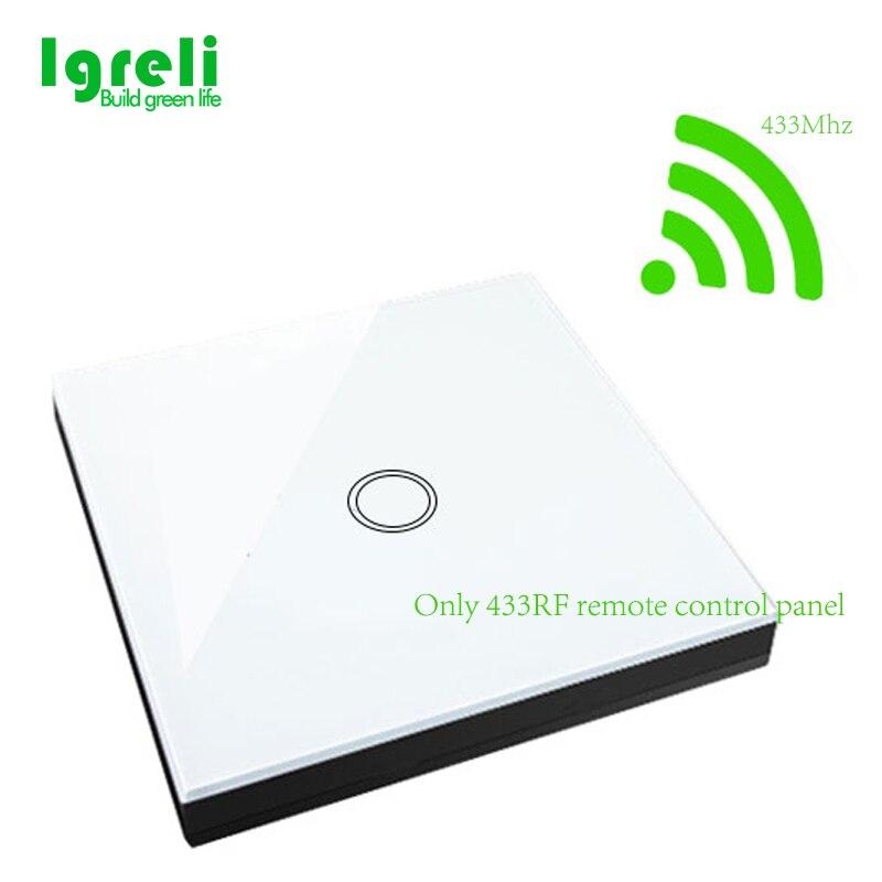 Igreli Télécommande Tactile Commutateur Pour Appliques Murales + 1 Gang Sans Fil Bâton Tactile Commutateur Norme Européenne, seulement la panneau de contrôle à distance