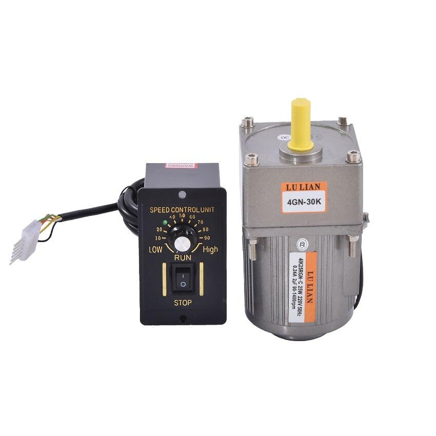 220 V/110 V 25 w vitesse Variable moteur à courant alternatif, contrôleur de moteur de vitesse, moteurs à courant alternatif monophasés verticaux + régulateur ordinaire