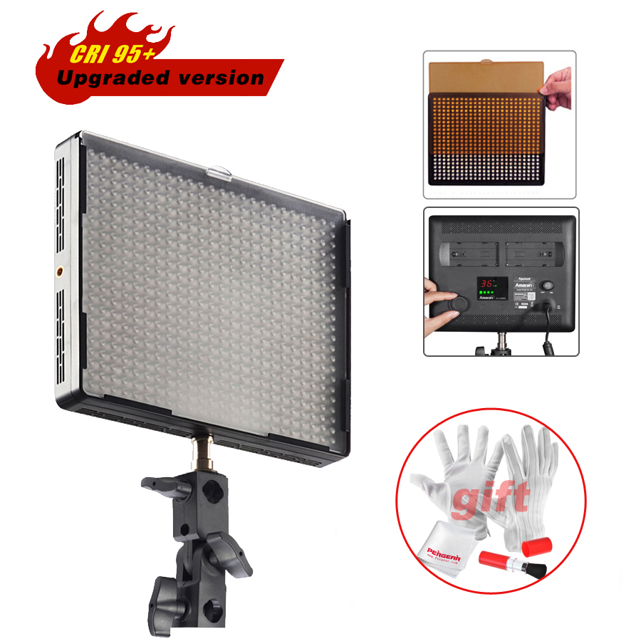 Aputure Amaran AL-528S Led Video Light Panel Studio Camera Photo Spotlight High CRI >95 for DSLR Camcorder Spot Lighting