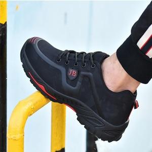 Image 4 - أحذية عمل واقية العمل التأمين الأحذية الذكور تنفس مزيل العرق مقدمة حذاء من المعدن مكافحة تحطيم مكافحة ثقب موقع الأحذية