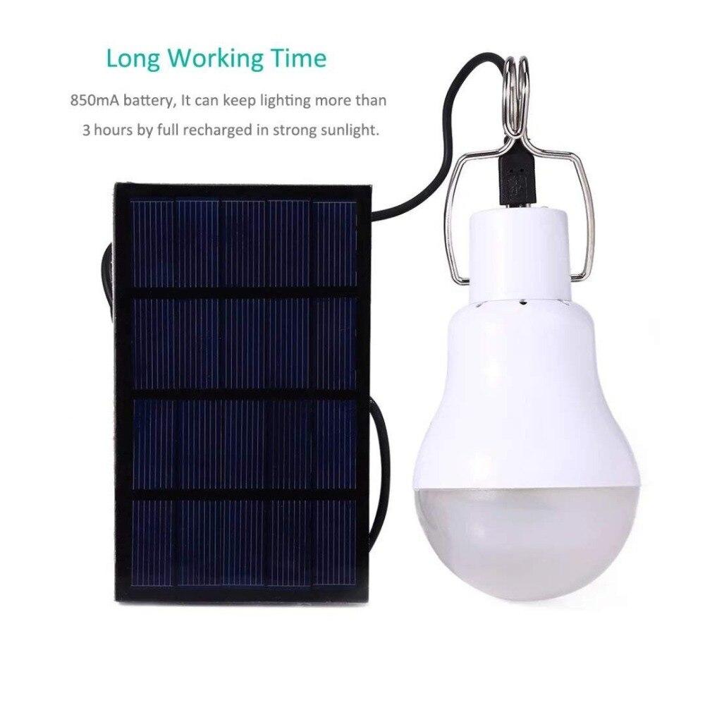 Lantern LED Solar Power Camping Light Emergency Lamp Tent Lamp Inflatable Light