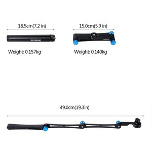 Image 4 - Smatree X1S Foldable Pole/Monopod for GoPro Hero 8/7/6/5/4/3+/3/Session,Ricoh Theta S/V,for DJI OSMO Action Cameras,Cell Phones