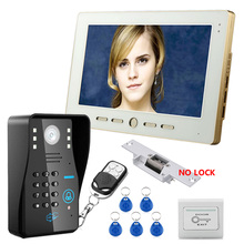 Big discount FREE SHIPPING Home Security 10 inch TFT LCD Monitor Video Door phone Intercom System With Night Vision Outdoor Camera IN STOCK