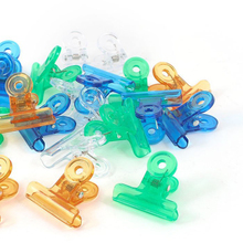 Office Stationery Documents Plastic Multicolor Binder Clips 24 Pcs
