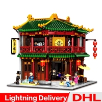 XINGBAO 01021 Chinese Style Building The Toon Tea House Set Building Blocks Bricks Kids Gifts lepinings Toys Clone LP