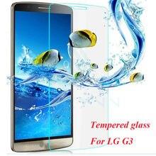 все цены на HOT 2016 new 9H Hardness 2.5D Tempered Glass Film Anti-oil anti-scratch mobile film For LG G3 G4 Premium Glass Screen Protector онлайн
