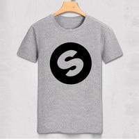 Dj arno costo spinnin record music festival banda mondo di alta qualità Casual t-shirt pure color uomo slim t shirt partito top tee