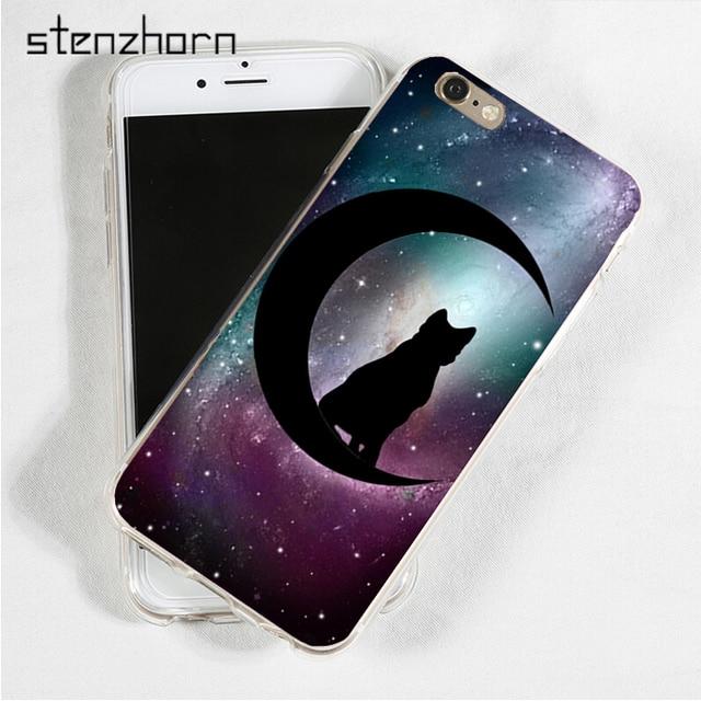Stenzhorn Black Cat Witch Craft Crescent Moon Symbol Stars Soft