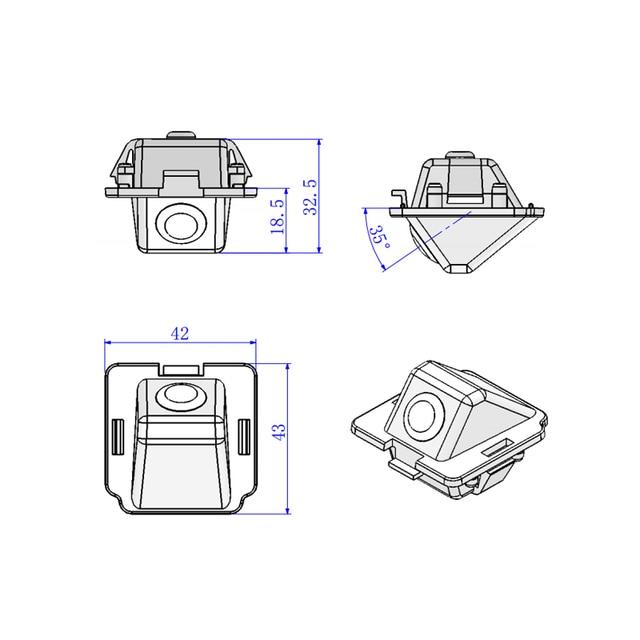 43*42*325mm For Mitsubishi Outlander Camera HD CCD car back up