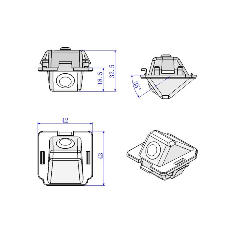 43 42 32 5mm For Mitsubishi Outlander font b Camera b font HD CCD car back