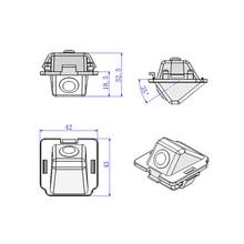 43*42*32.5 мм для Mitsubishi Outlander Камера HD CCD автомобиля обратно обратный заднего вида Парковка автомобиля камера провода беспроводной Камера