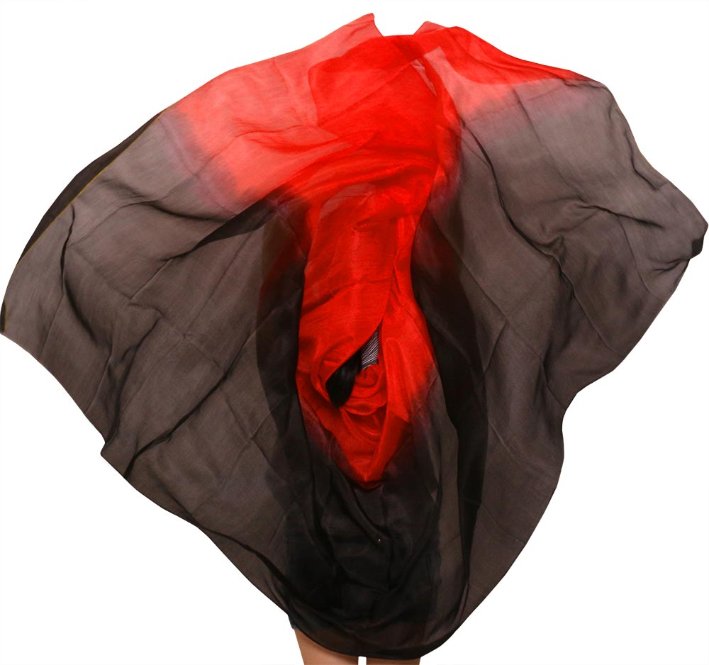 100% Silk Belly Dance Veils Stage Performance Prop Veil Scarf Women Dance Accessories Wholesale Size And Color Can Be Customized