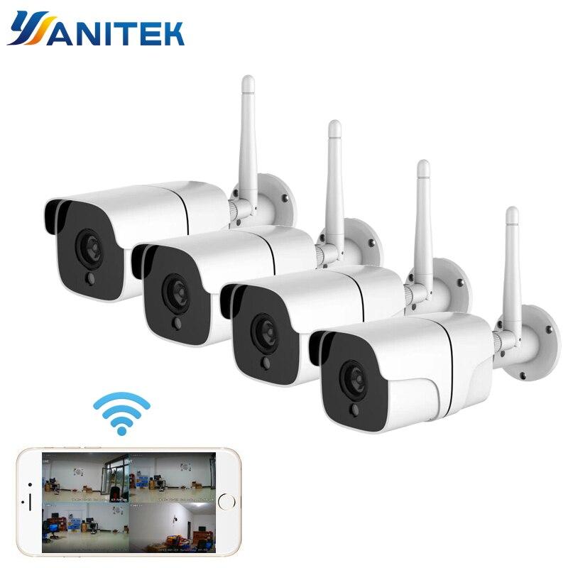 Système de caméra de sécurité sans fil 1080P caméra IP Wifi carte SD extérieure 4CH système de vidéosurveillance Audio Kit de Surveillance vidéo Camara