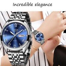 2020 ליגע נשים חדש כחול שעון תאריך עסקי קוורץ שעון גבירותיי למעלה מותג יוקרה נקבה שעון יד ילדה שעון Relogio feminino