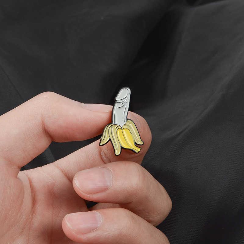 Банан Эмаль Булавка мультфильм фрукты Броши Кнопка значок подарок для друзей нагрудная булавка пряжка забавные ювелирные изделия Одежда Джинсы кепки мешок