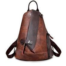Mochila antirrobo Vintage para mujer 2018, nueva moda, gran capacidad, bolso de hombro para mujer, mochila de viaje escolar de cuero suave para tiempo libre