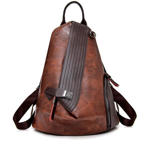 Image 1 - Vintage Antitheft Backpack Women 2018 Fashion New Large Capacity Women Shoulder Bag Leisure Soft Leather School Travel Back Pack