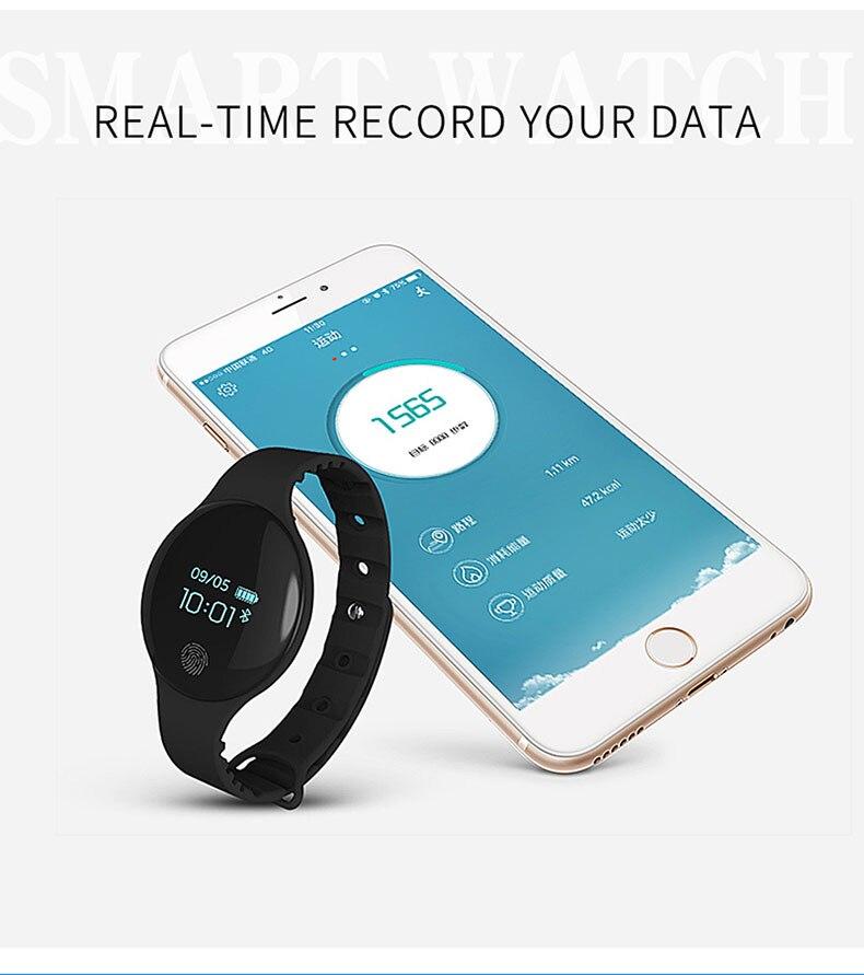 masculino e feminino esportes relógio pedômetro pulseira de fitness digital