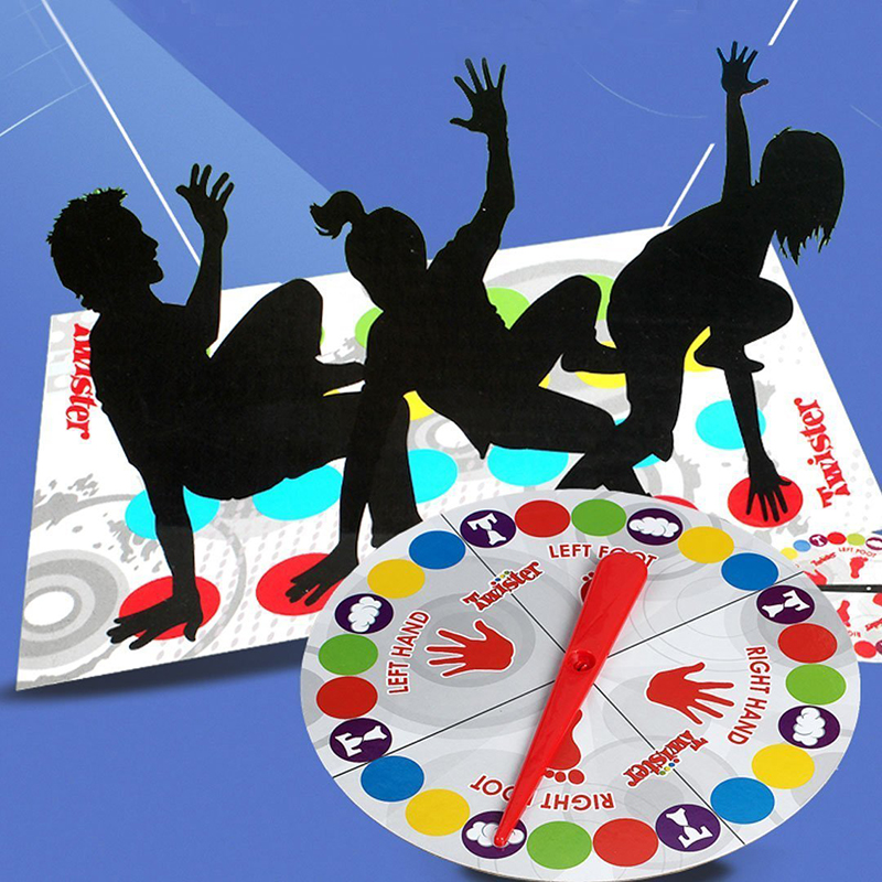 Interior divertido Twister juguetes de juego para los niños de deportes se mueve interactivo grupo juguetes educativos sitio Clásico cuerpo juego Twister
