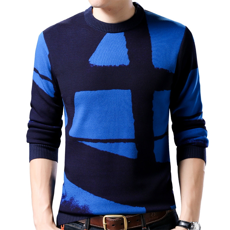 Zogaa 2019 New Line Pull Mens Sweaters Casual Thick Male Pullover Sweater Slim Fit Men Blusa Masculina Clothes Jersey Sweter Man