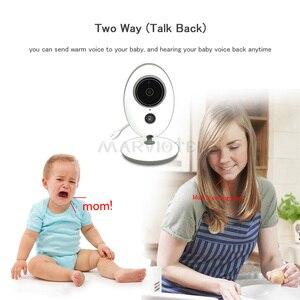 Image 5 - Monitor do bebê sem fio lcd de áudio e vídeo rádio babá música intercom ir 24h portátil bebê câmera walkie talkie babá vb605