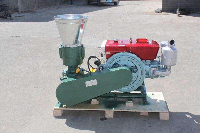 Pellet Press Electric Start 15HP Diesel Engine KL200A Feed / Wood Pellet Mill Machine Biomass Pellet Machine