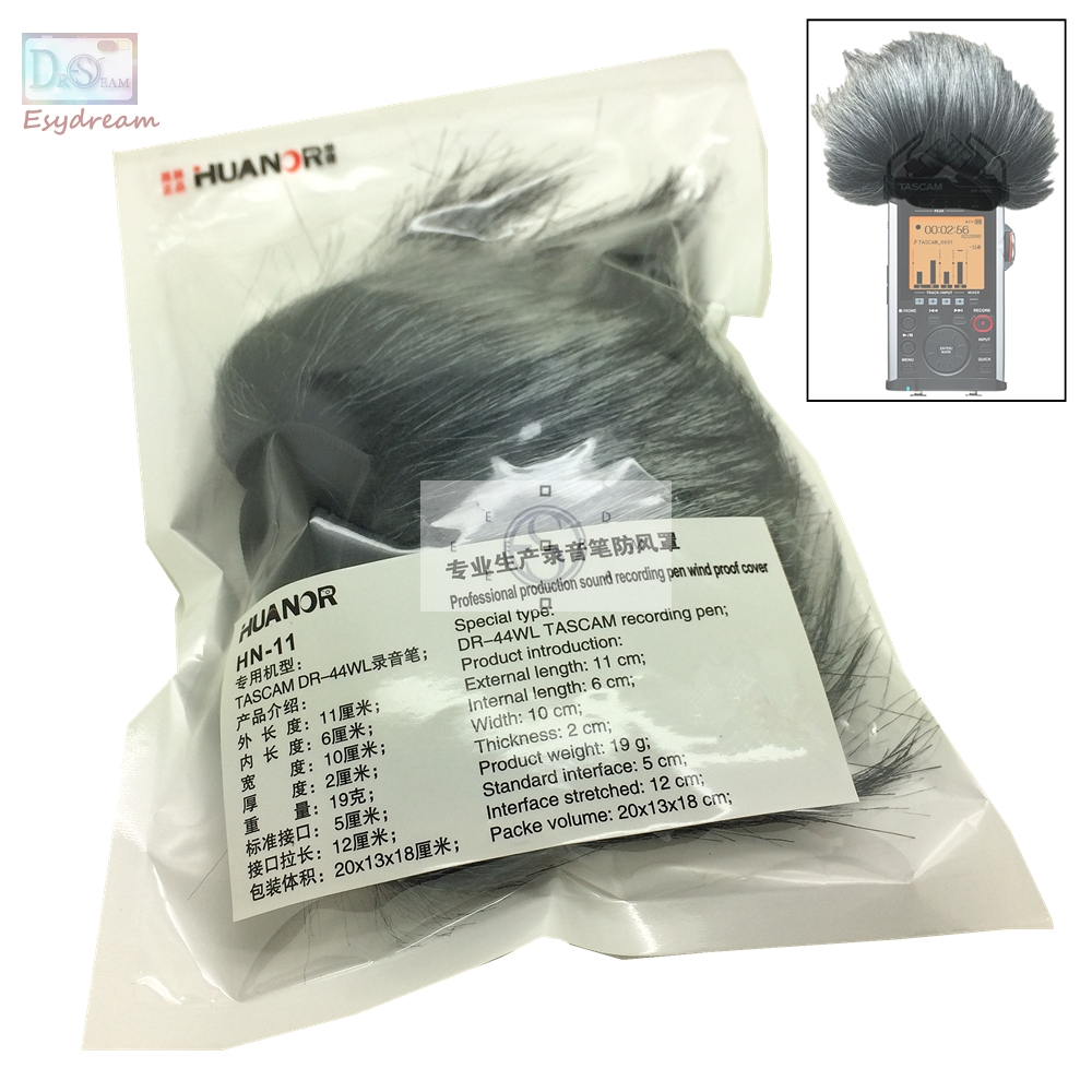 DR44WL MIC Outdoor Furry Cover Windscreen Windshield Muff For TASCAM DR-44WL Microphone Deadcat Wind Shield