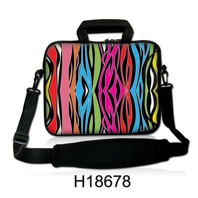 5193f227a92c Colorful Stripe Shape Neoprene Handle Laptop Shoulder Bag Cover  10