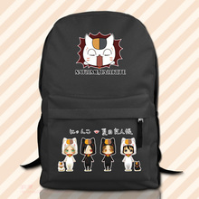 Hot sale cute cartoon backpack Natsume_Yuujinchou surrounding anime students school bag vintage canvas rucksack travel bag women