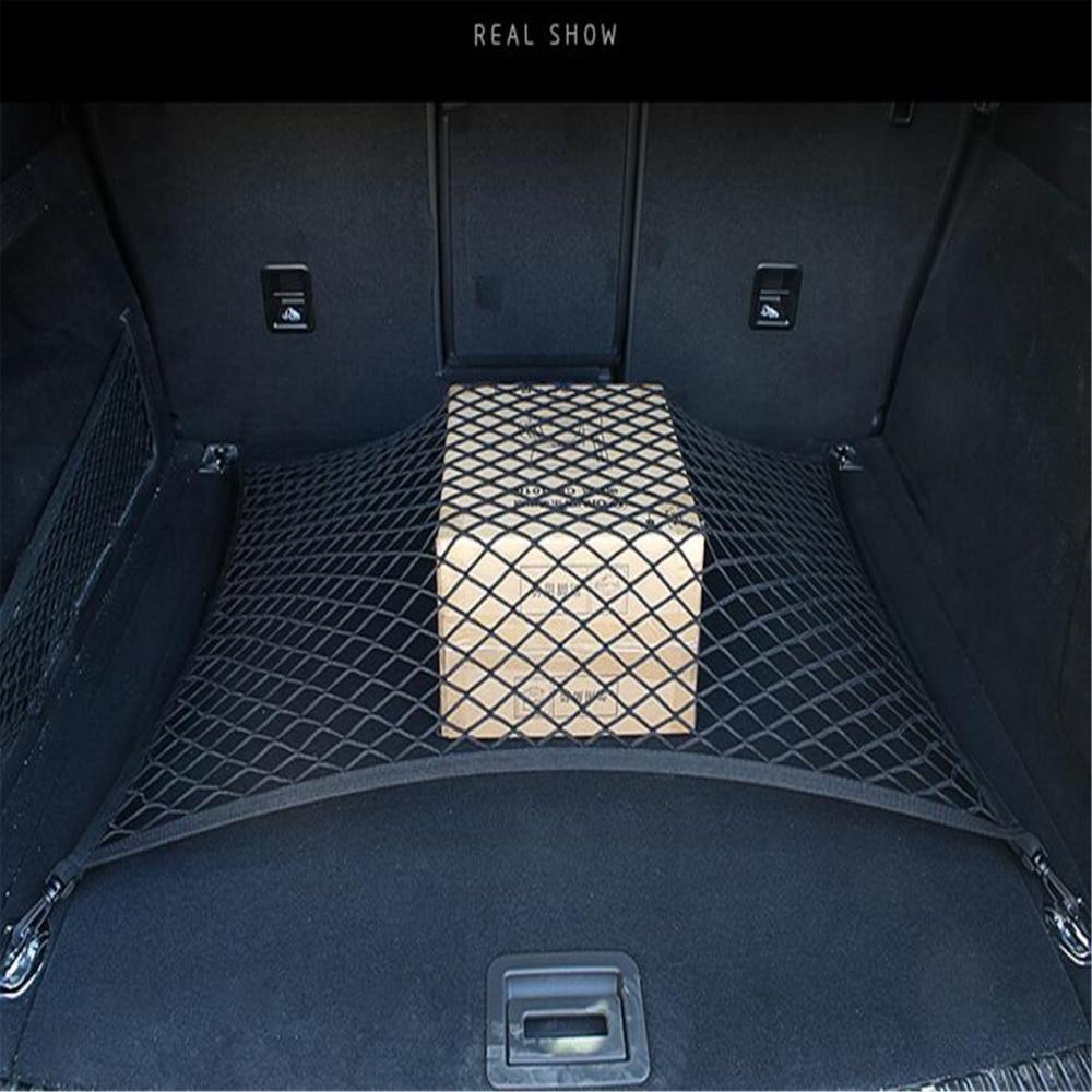 4 Hook Car Universal Trunk Cargo Net Mesh Storage Organizer Auto Accessories For Toyota Hiace Prius V Hilux Land Cruiser Avanza 1 pcs wheel locking hub 26 teeth manuel 43509 35030 for toyota hiace hilux 4 runner liteace
