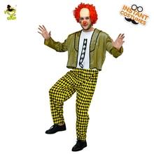 Хэллоуин Лысый Клоун костюм смешно Джокер клоун Производительность Хэллоуин платье Косплэй клоун Костюмы для взрослых