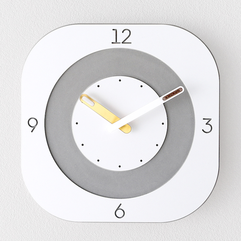 Nordic Wooden Wall Clock Simple Design for Living Room Creative Square Clocks Minimalist Wood Wall Watch Home Decor Silent