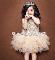 Детское пышное платье-пачка с пайетками для девочки, платья на день рождения, модное праздничное вечернее платье