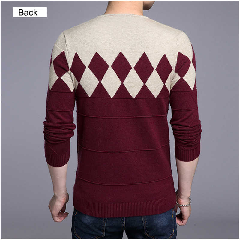 DIMUSI Autumn Winter Mens Pullover Sweater Men Turtleneck Casual V-Neck Sweater Men's Slim Fit Knitted Pullovers Clothing 3XL