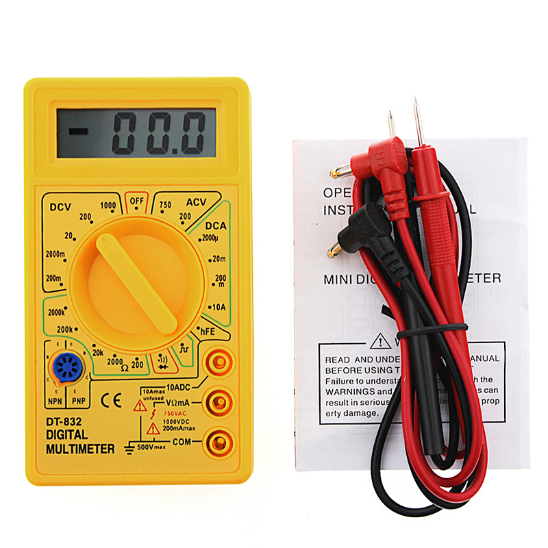 Imported From Abroad Digital Multimeter Lcd Dc Ac Voltmeter Ammeter Ohm Professional Dt832 Ttransistor Tester Tools New 2017 Online Discount