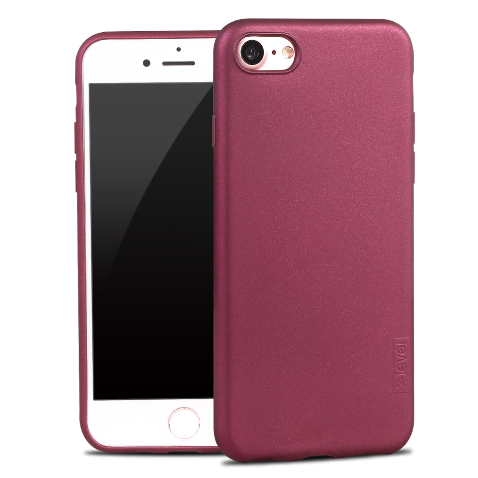 for iPhone 7Plus/7 Frosted Silicon Case X-Level Guardian Soft Matte TPU Case for iPhone 7 Plus Scrub Back Cover for iPhone7 Capa