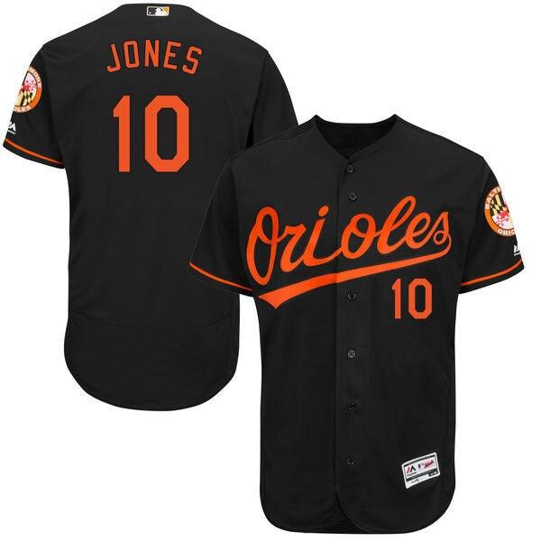 Uomo MLB Baltimore Orioles Adam Jones Alternativo Nero Arancione Bianco  Casa 10 Flex Raccolta Base Authentic Pullover del Giocatore 02 in Uomo MLB  Baltimore ...