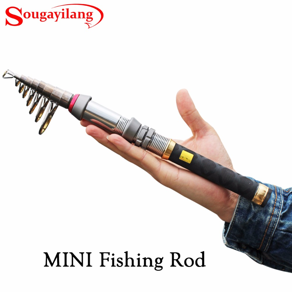Sougayilang 1 3 2 4m carbon fiber mini telescopic fishing for Mini fishing rod
