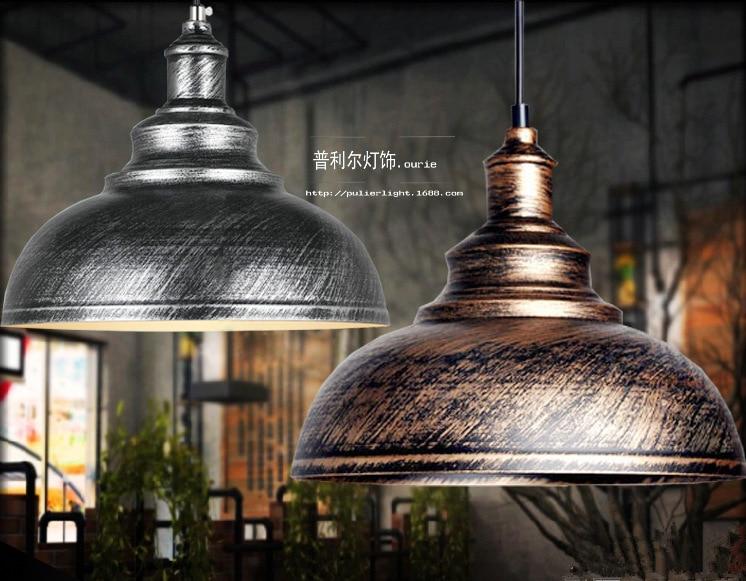 Amerikanische Landschaft Schwarz Rost Farbe Halbkreis Lampenschirm Pendelleuchte Wohnzimmer Lampe Restaurant Freies Verschiffen