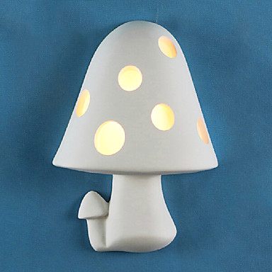 Simple Modern LED Wall Lights  For Home Gypsum Mushroom Bedside Lamp Wall Sconce Indoor Lighting Lampara Pared bedside wooden wall lamp wood glass aisle wall lights lighting for living room modern wall sconce lights aplique de la pared